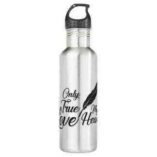 Illustration True Love Feather 710 Ml Water Bottle