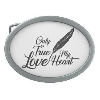 Illustration True Love Feather Belt Buckle