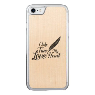 Illustration True Love Feather Carved iPhone 8/7 Case