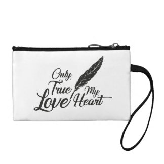 Illustration True Love Feather Coin Purse