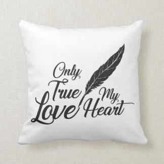Illustration True Love Feather Cushion
