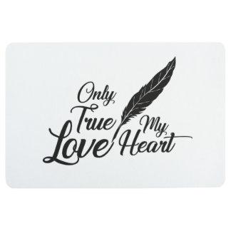 Illustration True Love Feather Floor Mat
