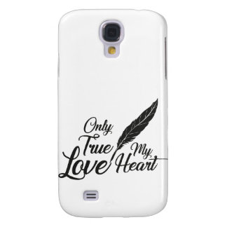 Illustration True Love Feather Galaxy S4 Cases