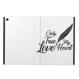 Illustration True Love Feather iPad Air Cover