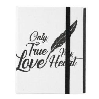 Illustration True Love Feather iPad Folio Case