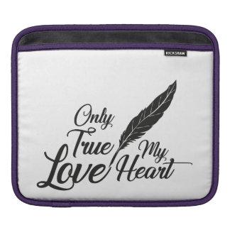 Illustration True Love Feather iPad Sleeve