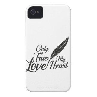 Illustration True Love Feather iPhone 4 Case