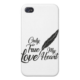 Illustration True Love Feather iPhone 4 Case