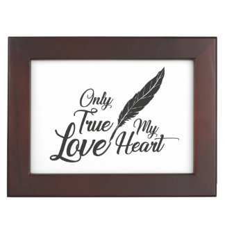 Illustration True Love Feather Keepsake Box