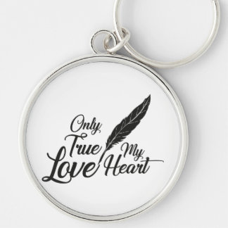 Illustration True Love Feather Key Ring