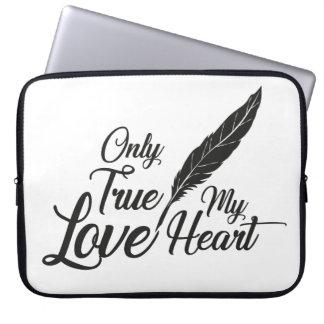 Illustration True Love Feather Laptop Sleeve