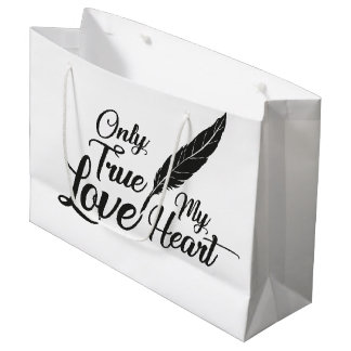 Illustration True Love Feather Large Gift Bag