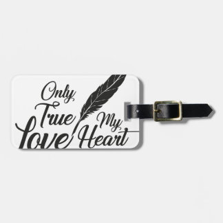 Illustration True Love Feather Luggage Tag