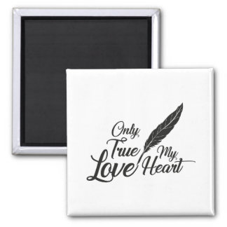 Illustration True Love Feather Magnet