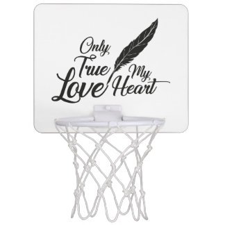 Illustration True Love Feather Mini Basketball Hoop