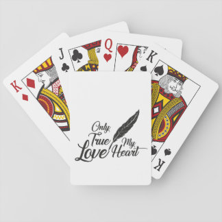 Illustration True Love Feather Playing Cards