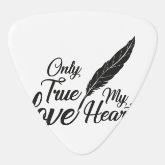 Illustration True Love Feather Plectrum