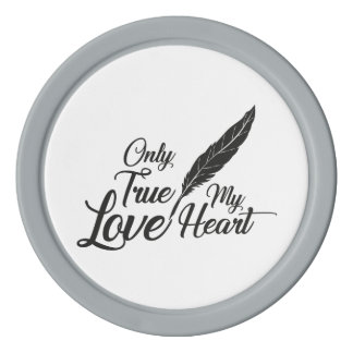 Illustration True Love Feather Poker Chips