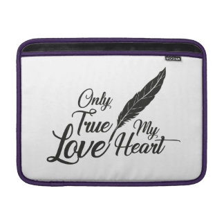 Illustration True Love Feather Sleeve For MacBook Air