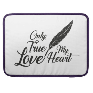 Illustration True Love Feather Sleeve For MacBook Pro
