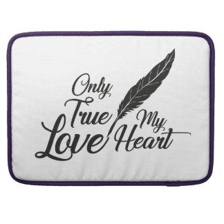 Illustration True Love Feather Sleeve For MacBooks