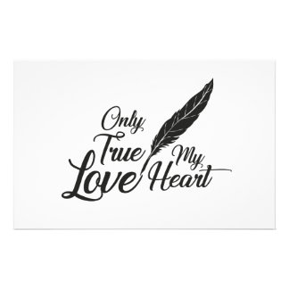 Illustration True Love Feather Stationery