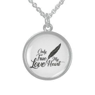 Illustration True Love Feather Sterling Silver Necklace