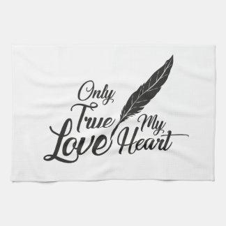 Illustration True Love Feather Tea Towel