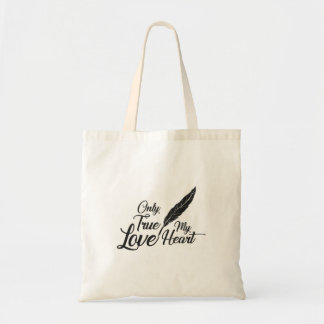 Illustration True Love Feather Tote Bag