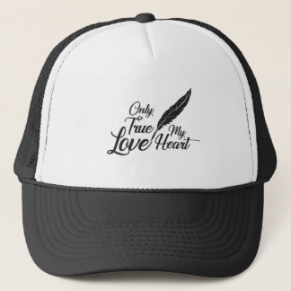 Illustration True Love Feather Trucker Hat