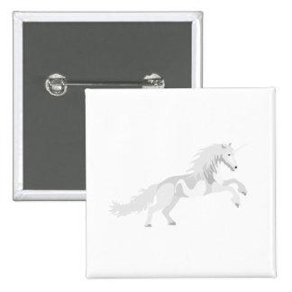 Illustration White Unicorn 15 Cm Square Badge