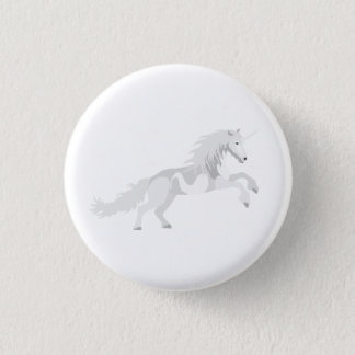 Illustration White Unicorn 3 Cm Round Badge