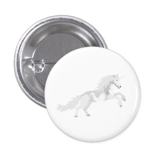 Illustration White Unicorn 3 Cm Round Badge