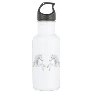 Illustration White Unicorn 532 Ml Water Bottle