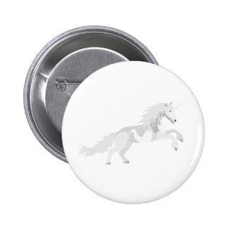 Illustration White Unicorn 6 Cm Round Badge