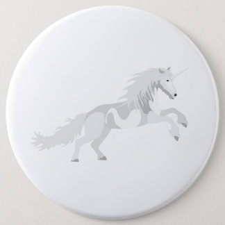 Illustration White Unicorn 6 Cm Round Badge