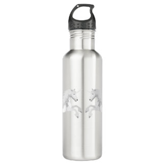 Illustration White Unicorn 710 Ml Water Bottle