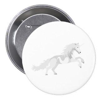 Illustration White Unicorn 7.5 Cm Round Badge
