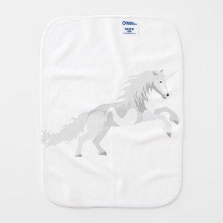 Illustration White Unicorn Burp Cloth