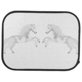 Illustration White Unicorn Car Mat