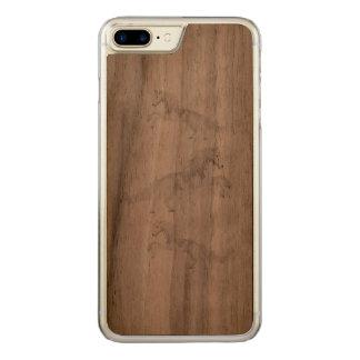 Illustration White Unicorn Carved iPhone 8 Plus/7 Plus Case