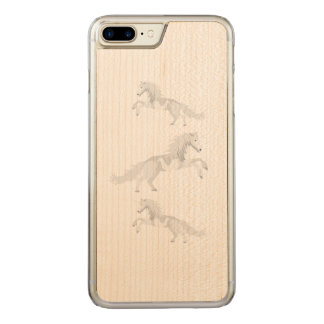 Illustration White Unicorn Carved iPhone 8 Plus/7 Plus Case