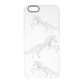 Illustration White Unicorn Clear iPhone 6/6S Case