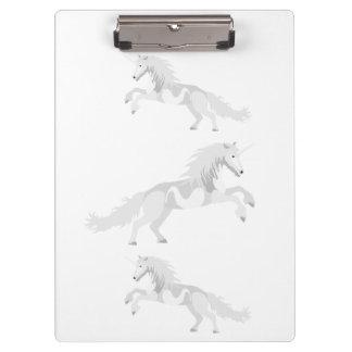 Illustration White Unicorn Clipboard
