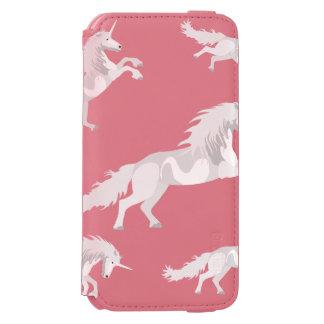 Illustration White Unicorn Incipio Watson™ iPhone 6 Wallet Case