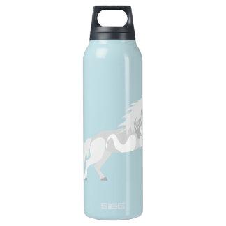 Illustration White Unicorn Insulated Water Bottle