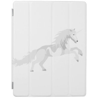 Illustration White Unicorn iPad Cover