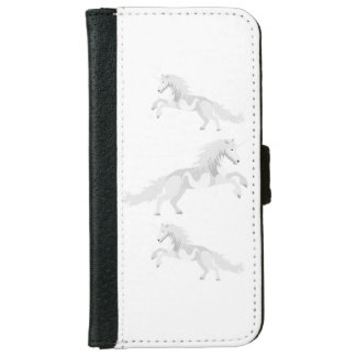 Illustration White Unicorn iPhone 6 Wallet Case