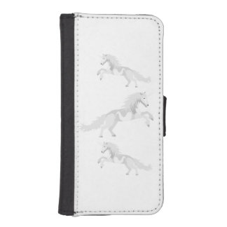 Illustration White Unicorn iPhone SE/5/5s Wallet Case