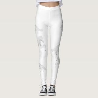 Illustration White Unicorn Leggings